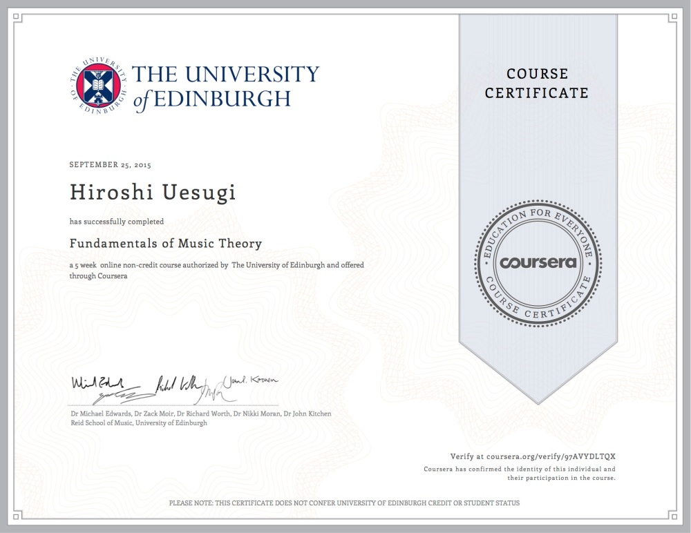 Fundamentals Of Music Theory Hiroshi Uesugi
